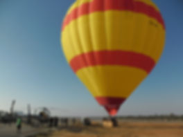 Hot Air Balloon - Djerba - film equipment - helicopter