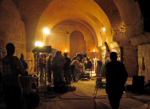 Roman interior - shoot National Geographic factual drama
