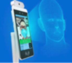 スマートで安全安心 非接触顔認識0.5秒 検温1秒で測定