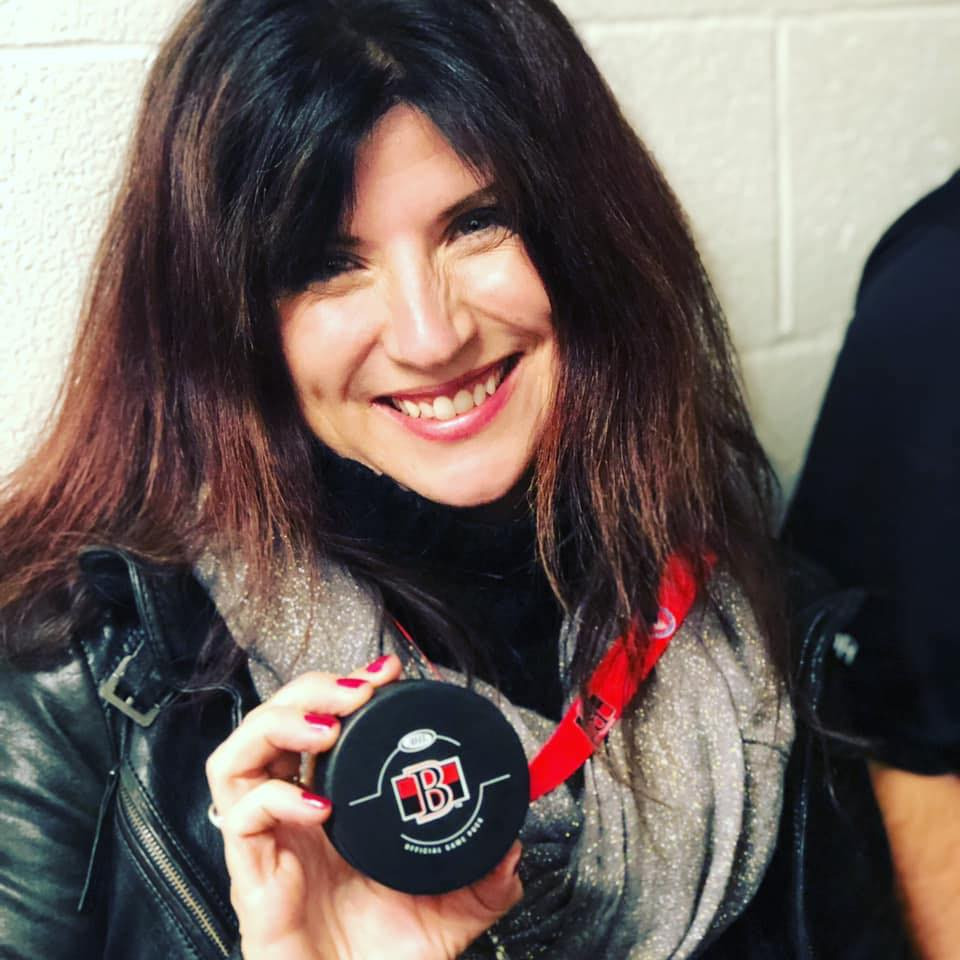 Hockey Mom drops the puck on minor hockey night at a Belleville Sens game