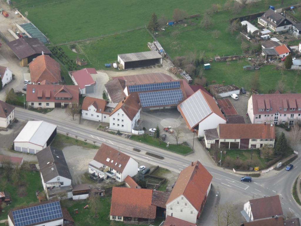 Moosmayers Bauernhof von oben
