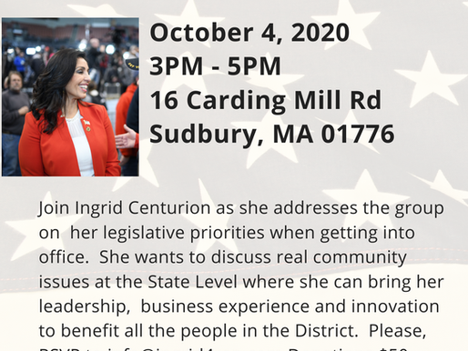 Share your voice and concerns with Ingrid at her Fireside Chat.