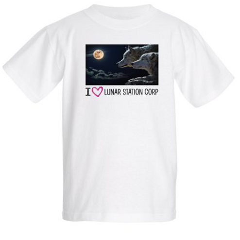 Kids T-shirt I Love Lunar Station