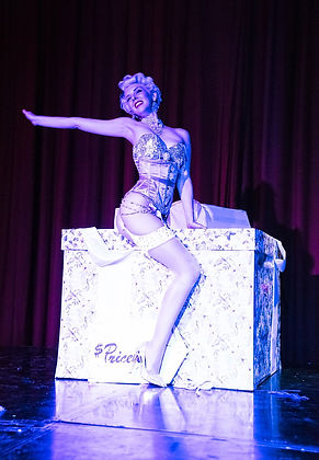 Nicole Melrose on a Gift Box Burlesque Routine