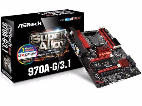 출시일 알림, ASRock 970A-G/3.1 디앤디컴