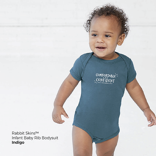 """Comfortable & Confident"" Infant Baby Rib Bodysuit"