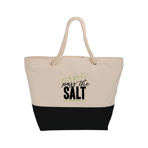 PasstheSALT Zippered Cotton Rope Tote