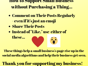 How to Support a Small Business without Purchasing a Thing