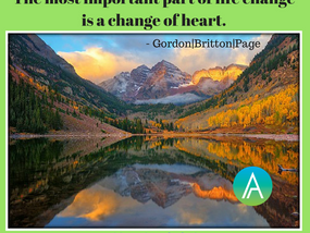 The Most Important Part of Life Change