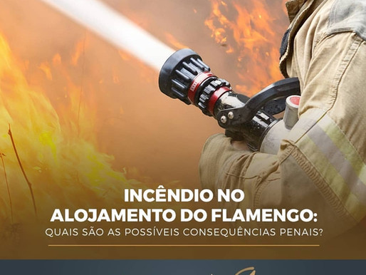 INCÊNDIO NO ALOJAMENTO DO FLAMENGO