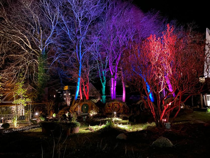 Belysning i hage #Bakkeland