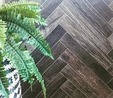 Ceramic wood look tiles