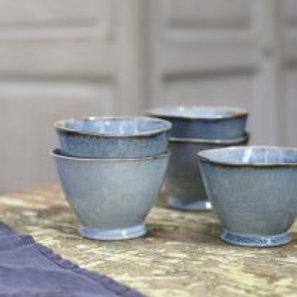 Capri blue footed bowl