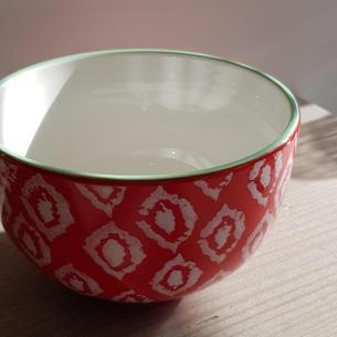 Red Print Bowl £7.00