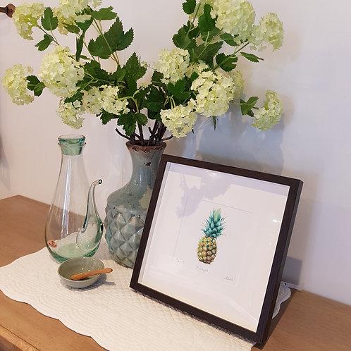 Pineapple Print Giclee Print by Abigail Lock Design