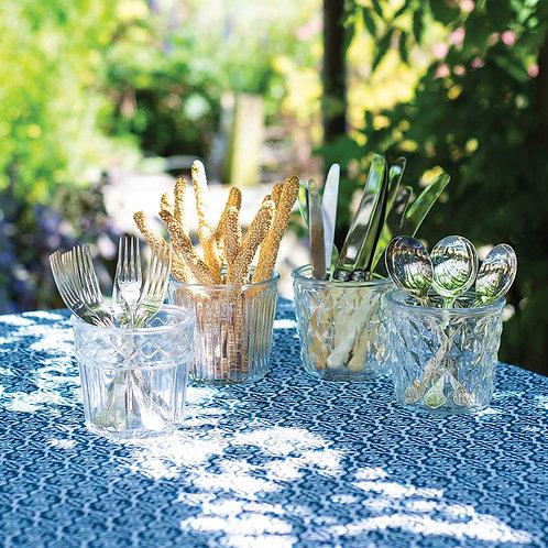 Vintage style glass pot