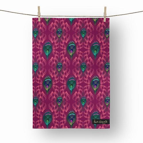 Feather tea towel