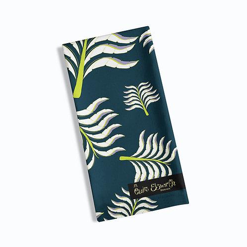 Viola's Palm tea towel