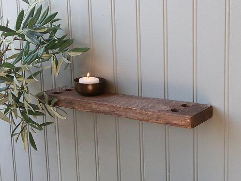 GRIMAUD reclaimed wood shelf