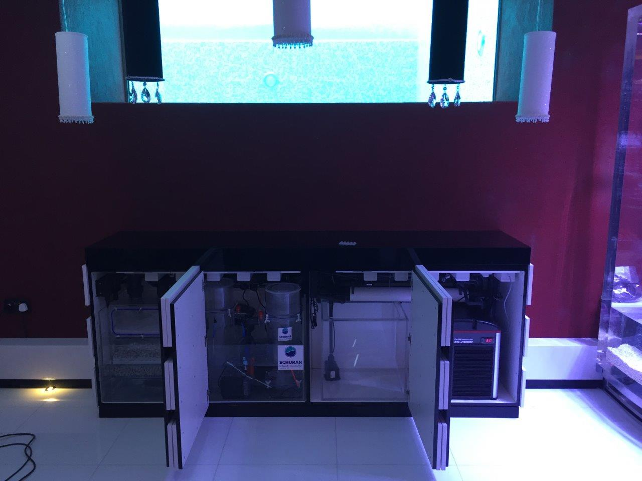 equipment cabinet opened showing