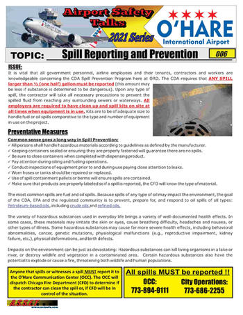 ORD Safety Talk 006 Spill Prevention 202