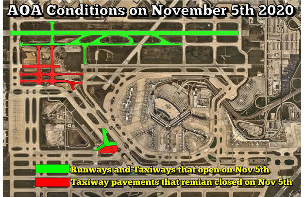 AOA Pavement conditions on November 5th.
