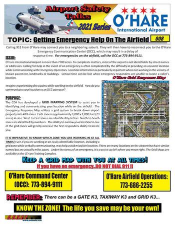 ORD Safety Talk 008 Emergency Help on th