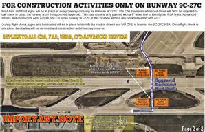 Emergency AOA Alert Runway 9C-27C Hold B