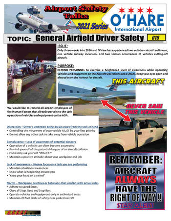 ORD Safety Talk 010 Airfield driver safe