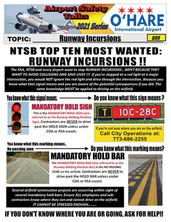 ORD Safety Talk 009 Runway Incursions 20