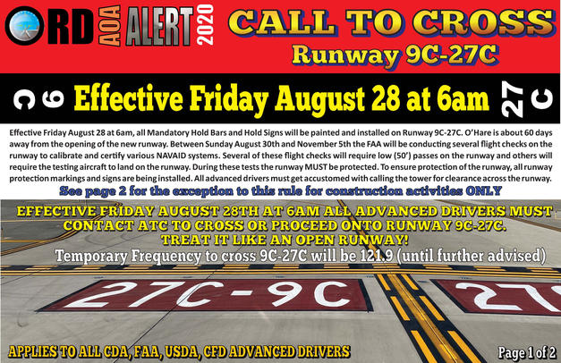 AOA Alert Call to Cross Runway 9C-27C Ad