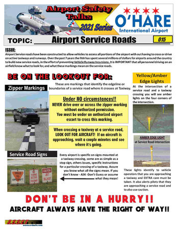 ORD Safety Talk 015 Airfield Service Roa