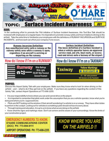ORD Safety Talk 001 Surface Incident awa