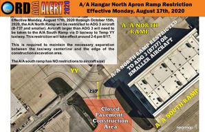 AOA Alert Restriction of AA North Ramp t