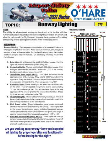 ORD Safety Talk 016 Runway Lighting 2021