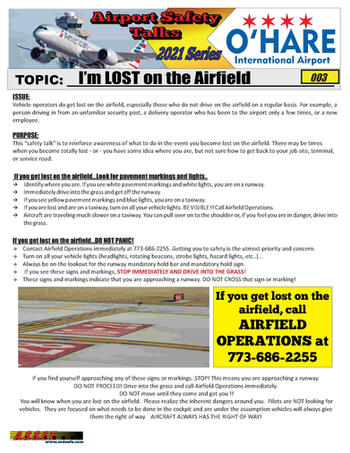 ORD Safety Talk 003 lost on the airfield