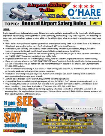ORD Safety Talk 011 General Airpoprt Saf