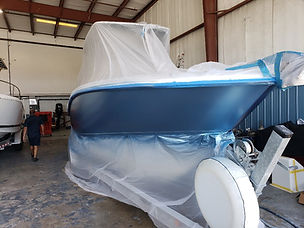 Boston Whaler 270 outrage Repaint with Abaco Blue Metalic
