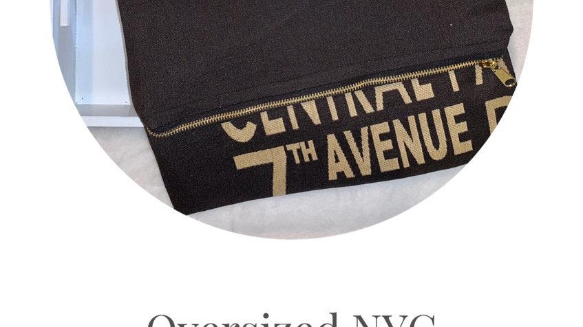 Oversized NYC clutch