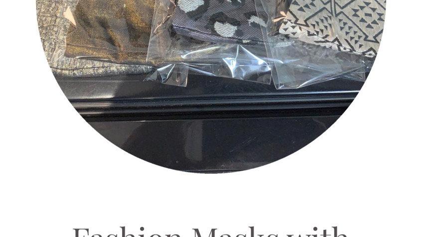 Fashion Masks w/filter pockets