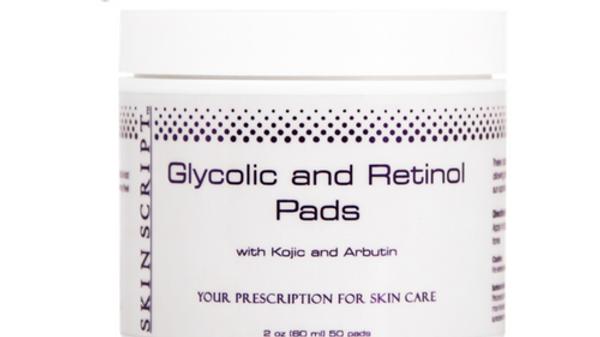 Skin Script Glycolic and Retinol Pads