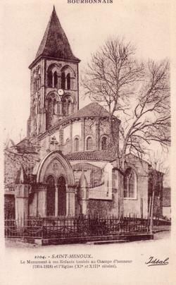 ST.-MENOUX-EGLISE-&-MONUMENT