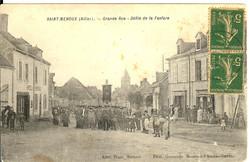 Carte-n°-36---Grande-rue-Défilé-de-la-fanfare-année-1917