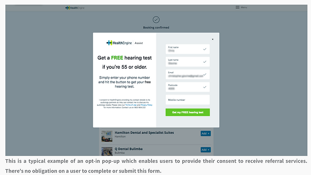 HealthEngine com au in Data-Sharing Scandal : Australian