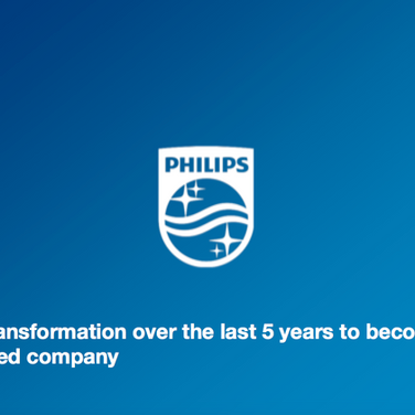 Philips : our transformation over the last 5 years to become a Health focused company