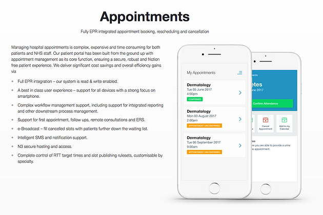 Zesty, the NHS, Digital Transformation and OutPatient Portals