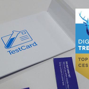 UK Digital Health company TestCard wins 'Top Emerging Tech' Award at CES 2019