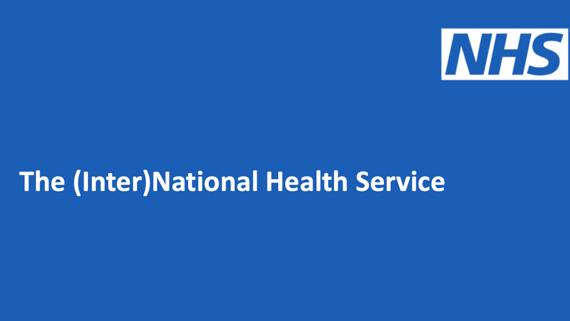 (Inter)National Health Service : the NHS is developing a profitable line in overseas consulting