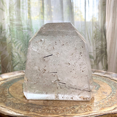 LARGE TOURMALINE QUARTZ STANDING PIECE