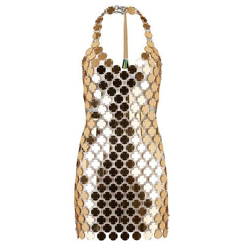 GOLD VALENTINA DRESS
